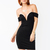 GJ | Off-The-Shoulder Sweetheart Dress $41.00 in BLACK - Bodycon Dresses | GoJane.com