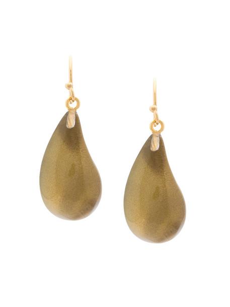 Alexis Bittar women earrings gold grey metallic jewels