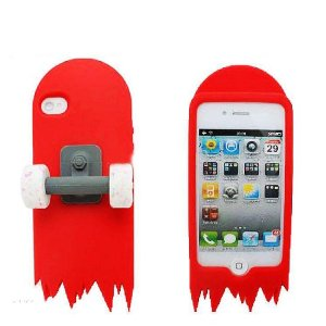 Amazon.com: Skateboard 3D Cartoon Silicone Stand Skin Case for iPhone 4/4S/4G - Red: Cell Phones & Accessories