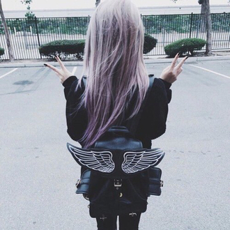 bag angel wings punk grunge tumblr