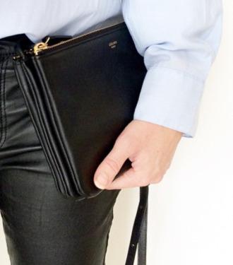 bag black bag purse zipper