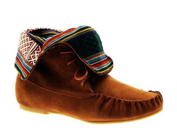 aztec tribal pattern boots shoes