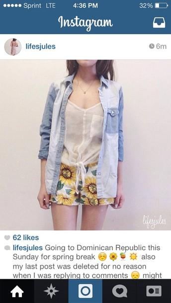 shorts jacket blouse