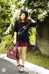 kryzuy,bag,skirt,hat,sweater,shoes,jewels