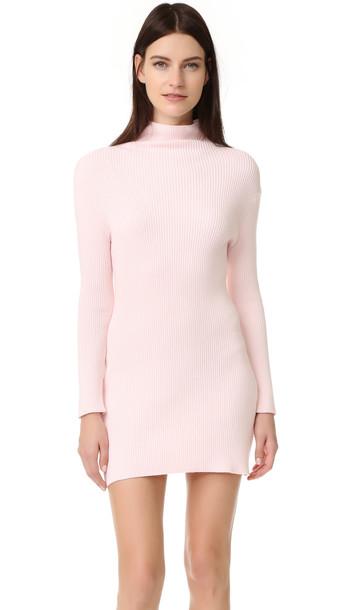 Baja East Long Sleeve Dress - Light Pink