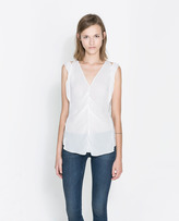 Zara Sleeveless Tops - ShopStyle