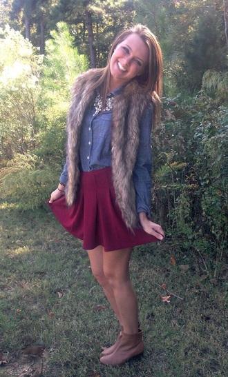 jacket fur furry vest