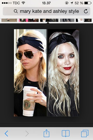 hair bow hat black mary kate and ashley olsen hair accessory hairband