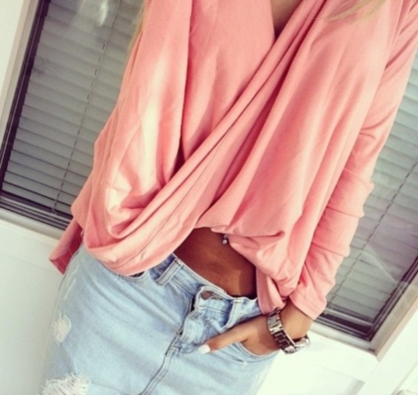 blouse pink blouse