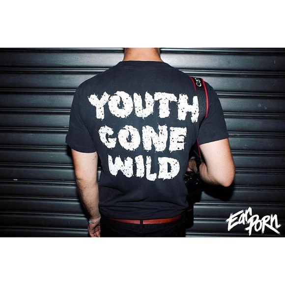t-shirt wild youth teenager slogan top unisex youth gone wild