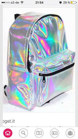 bag holographic cool perfecto wow new year's eve kawaii girly girly outfits tumblr