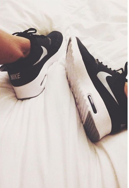 shoes nike air max roshes black and white just do it workout
