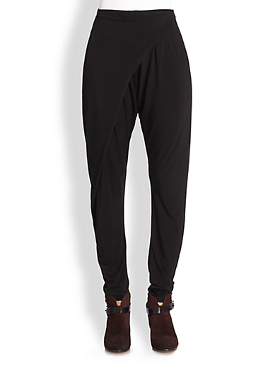 Rag & Bone - Rani Crossover-Paneled Stretch Jersey Pants - Saks.com