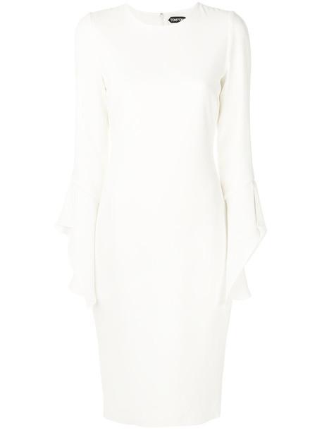 Tom Ford dress women spandex white silk
