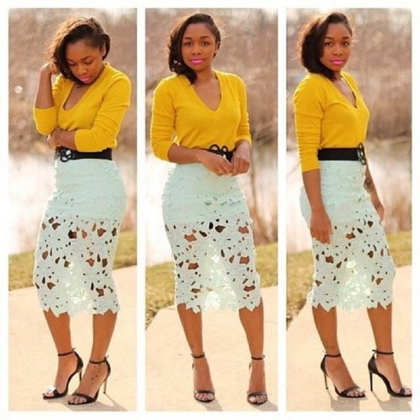 Crochet Pencil Skirt - Shop for Crochet Pencil Skirt on Wheretoget