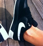 shoes,white,black,nike,trainers,leather,matte
