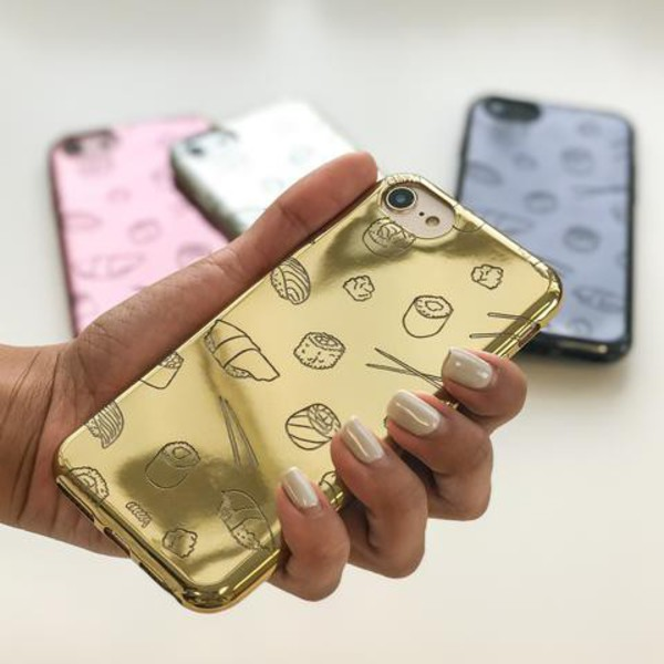 Milkyway Cases CHROME TPU CASE - SUSHI MONSTER in gold