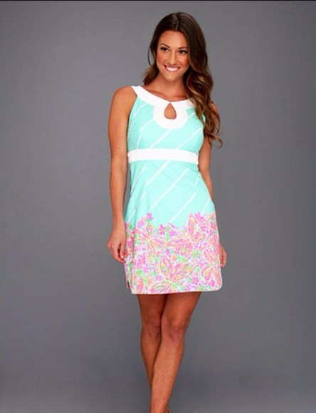 dress pattern lilly pulitzer preppy springdress