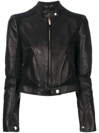 jacket biker jacket women spandex leather black