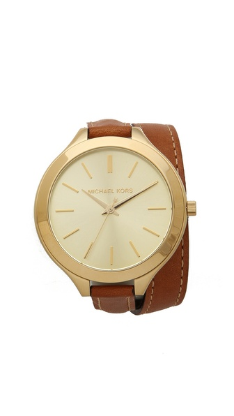 Michael Kors Slim Double Wrap Watch |SHOPBOP | Save up to 30% Use Code BIGEVENT14
