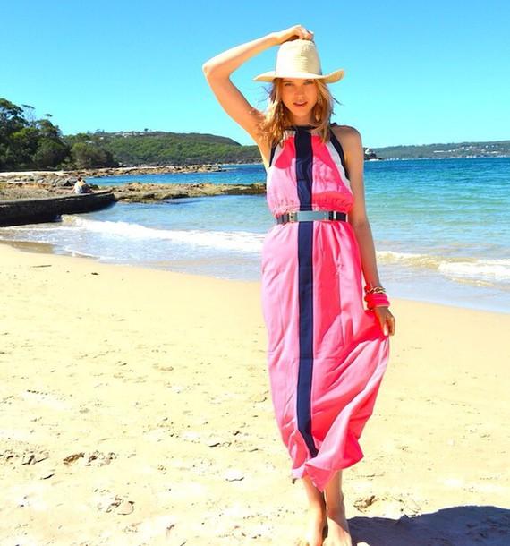 dress pink maxi dress maxi