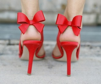 bow heels red shoes red sandals red high heel sandals shoes