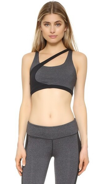 bra sports bra black charcoal underwear