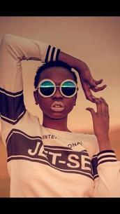 sunglasses,glasses,african american,fashion,icon,natural,crewneck,filter,dope,sea glasses