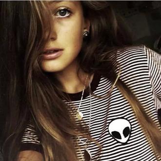 top it girl shop hipster alien stripes
