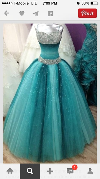 dress blue dress tulle dress beaded dress ball gown prom dress gorgeous helpmefindthis blue prom dress