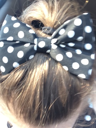 hair accessory polka dots hair accessories style bow black white