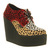 Womens Underground Creeper Wedge Triple Leopard Heels | eBay