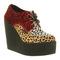 Womens underground creeper wedge triple leopard heels   ebay