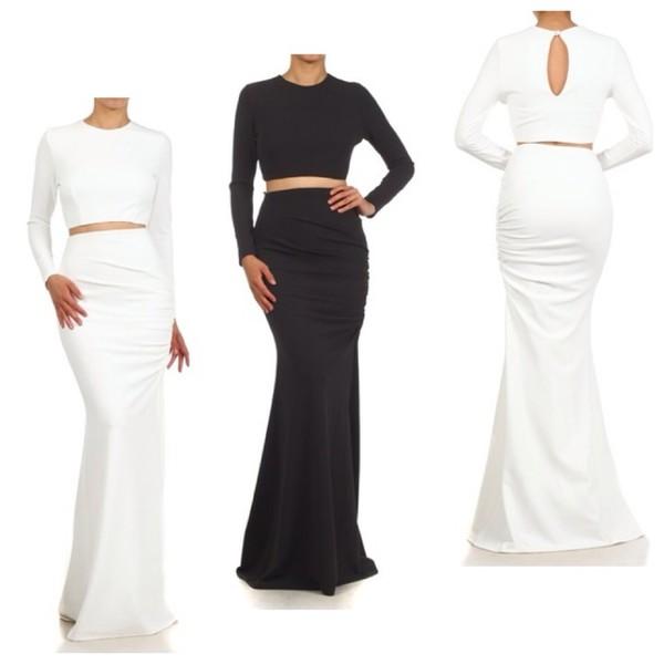 skirt shirt crop tops white mermaid prom dress christina milian