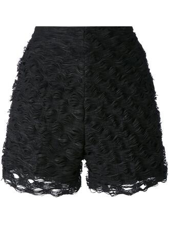 shorts women cotton black