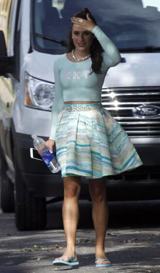 skirt lea michele top