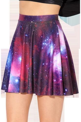 skirt skater skirt galaxy print galaxy skirt