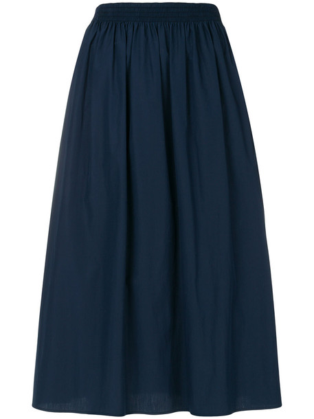 Agnona skirt midi skirt pleated women midi cotton blue silk