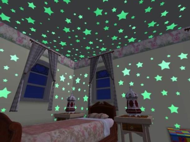 Home Accessory Glow In The Dark Stars Wall Decor Tumblr Bedroom Tumblr  Bedroom