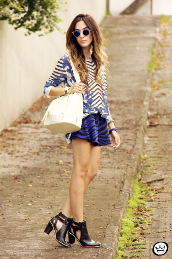 fashion coolture sweater skirt bag sunglasses shoes