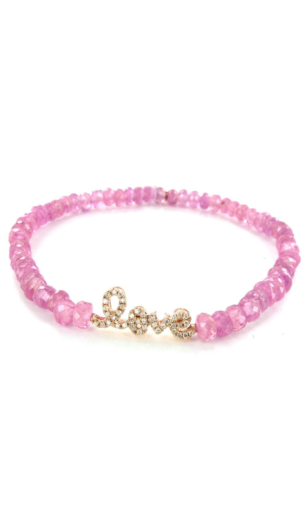 Sydney evan pink sapphire bracelet love