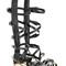 Black cross buckle strap gladiator flat sandals