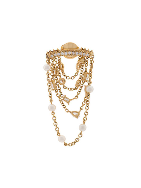 Yvonne Léon women gold white grey metallic jewels