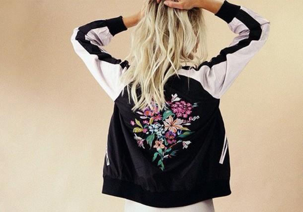 54d2d1bf9fa jacket girl pink black floral cute style girly girly wishlist bomber jacket  black bomber jacket floral