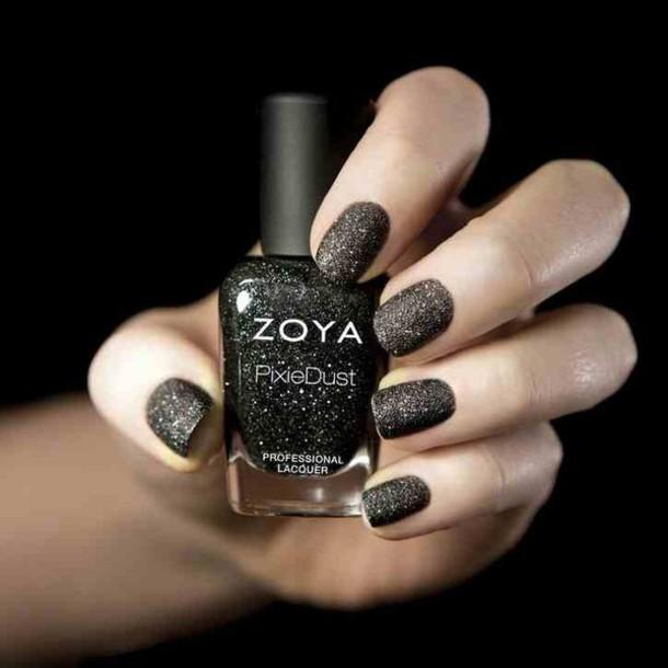 nail polish pixie dust black