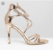 shoes,gold heeled sandals