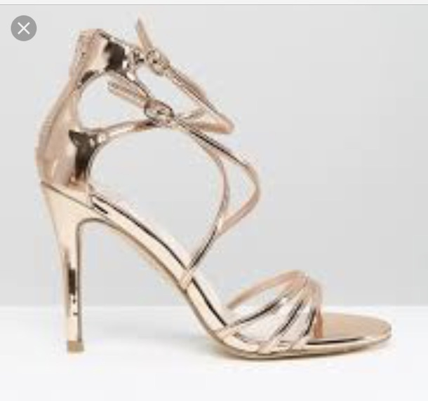 shoes gold heeled sandals