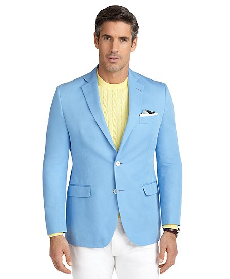 Fit Cotton Linen Sport Coat - Brooks Brothers