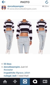 top,crop tops,stripes,stipe,striped shirt,long sleeves,dope,black and white