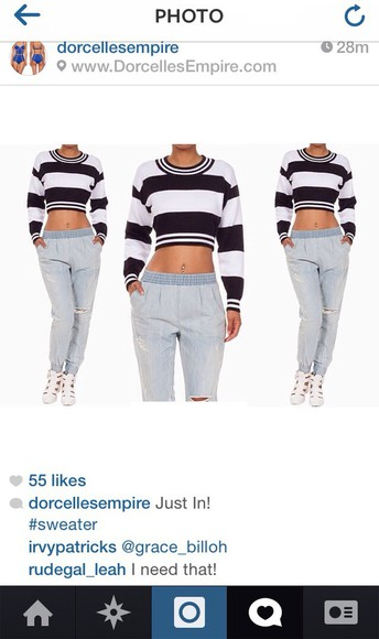top crop tops long sleeve stripes stipe striped shirt dope black and white
